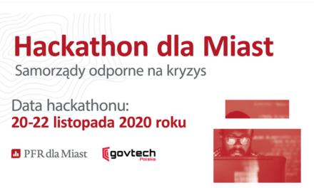 Hackathon dla Miast, 20-22.11.2020, online